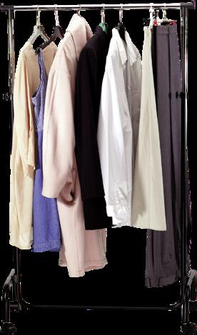 Подвижна закачалка за дрехи