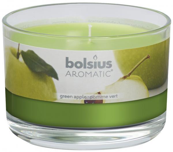 Bolsius ароматна свещ в чаша голяма Зелена Ябълка