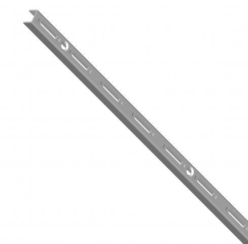 Шина за стена едноредова сребриста 1500мм