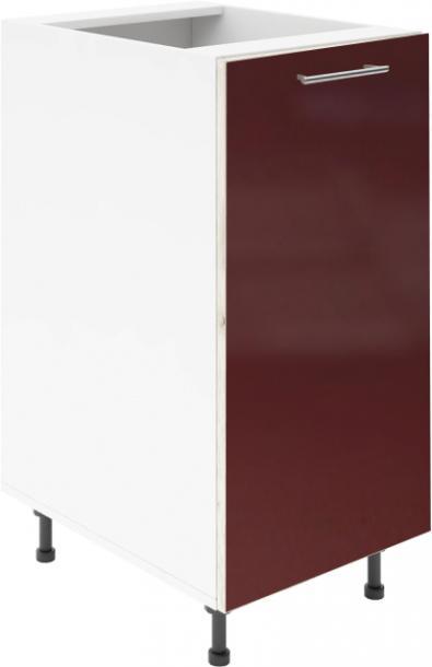 Крафт D1 долен шкаф с една врата 50см, бордо гланц