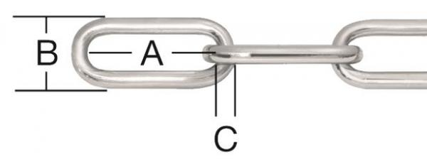 Верига ст.поцинкована форма А 5мм
