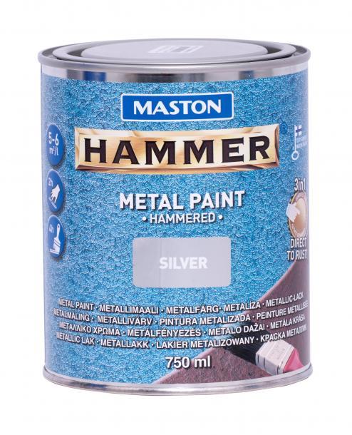 Боя с хамът ефект Maston 3в1 0.75л, сребро