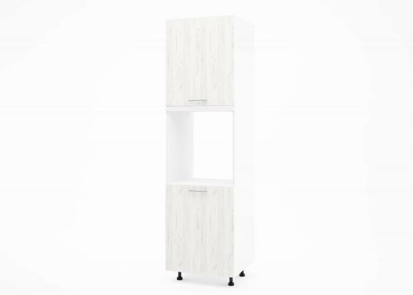 Крафт К1 колонен шкаф за фурна с две врати, дъб крафт бял