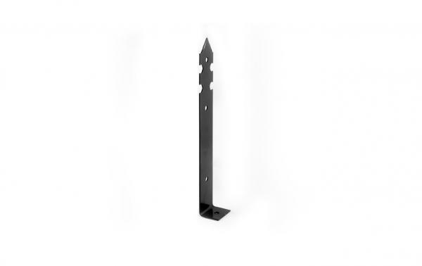 Планка ъглова декоративна черна 340х36х50х3