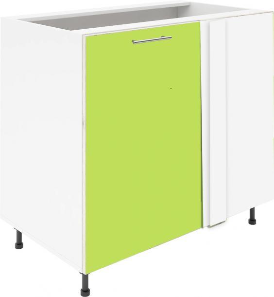 Крафт D7 долен шкаф с една врата и мъртво(300) 40см, зелен гланц