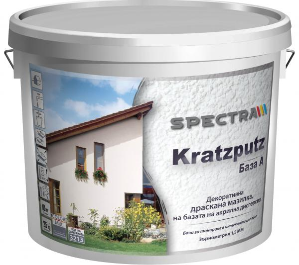Драскана мазилка Spectra Kratzputz 1.5 мм 25 кг