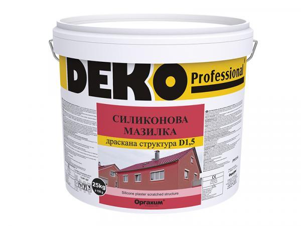 Силиконова мазилка Deko Professional Д1.5 25кг, бяла