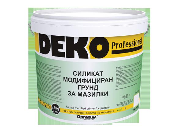 Силикат-модифициран грунд Deko Professional 25кг, трансперантен