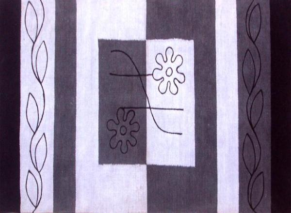 Килим Flower 80x150 черен
