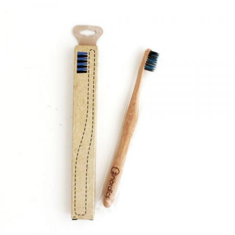 Бамбукова четка за зъби с въглен/цветни влакна 2