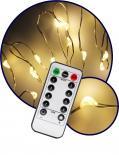 Светещ Гирлянд КУПЪР: 100топло бели LED /диодни/ лампички с дистанционно