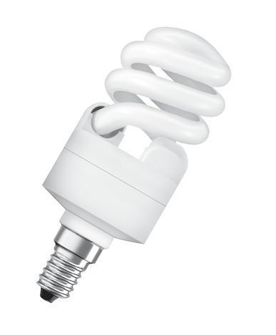 Енергоспестяваща спирала 12W, Е14 спирала студена светлина