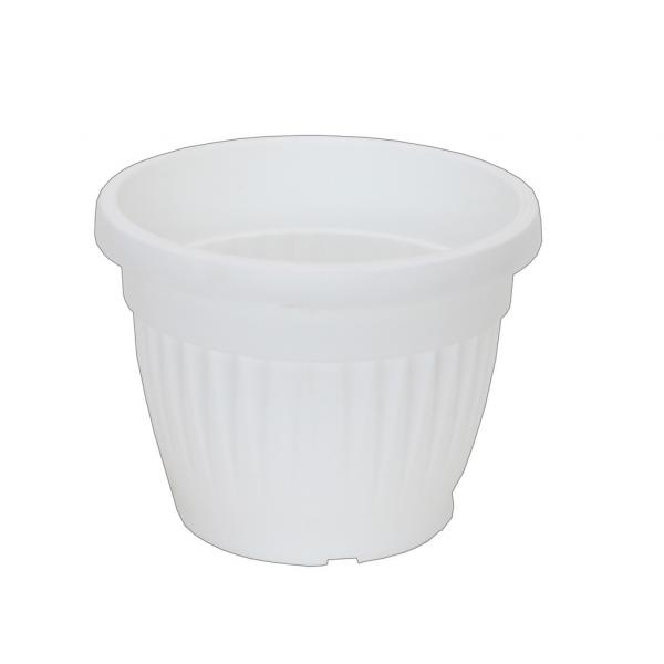 Саксия Ребра Ф:20 см бяла