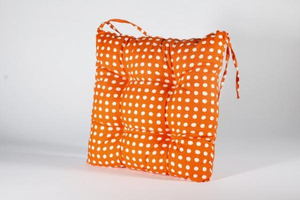 Столовка с връзки Пунто Бианко, 40х40 см, оранж