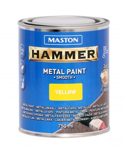 Алкидна боя Maston 3в1 0.75л, жълта