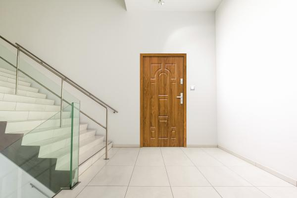 Външна входна врата  TORONTO  908x2068 мм, златен дъб, дясна