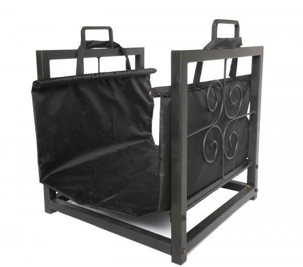 Кош за дърва с черен плат EDG149B2