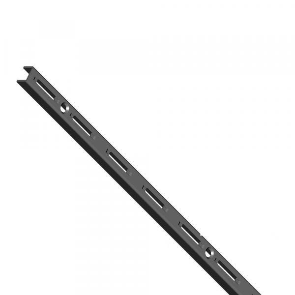 Шина за стена едноредова черна 1000мм