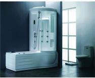 Хидромасажна душ кабина с вана - дясна