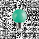 LED крушка G45 1W E27 зелена 60lm