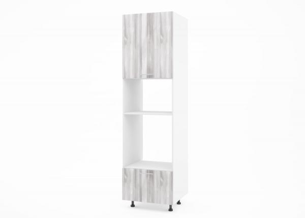 Крафт К2 колонен шкаф за фурна и микровълнова, дъб пикардия