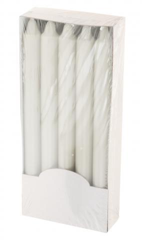 Свещ бяла 10 бр. 23 см