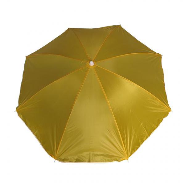 Плажен чадър с чупещо рамо жълт Ф180