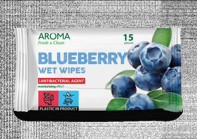 Мокри кърпички Aroma Fresh&Clean Blueberry