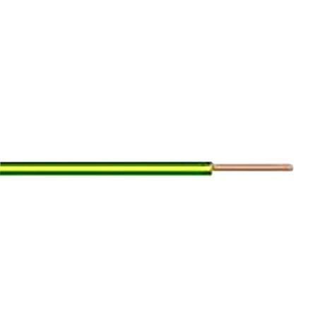 Кабел H07V-U 1x2.50mm2 жълто-зелен