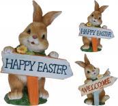 Великденско зайче с табела