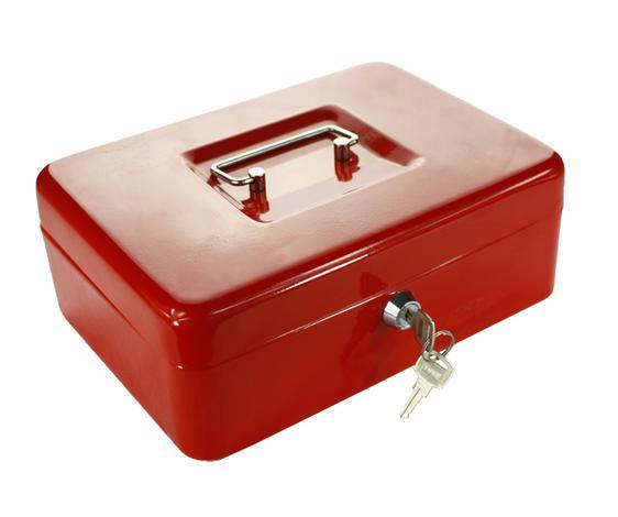 Касета за пари червена 90x200x160 мм