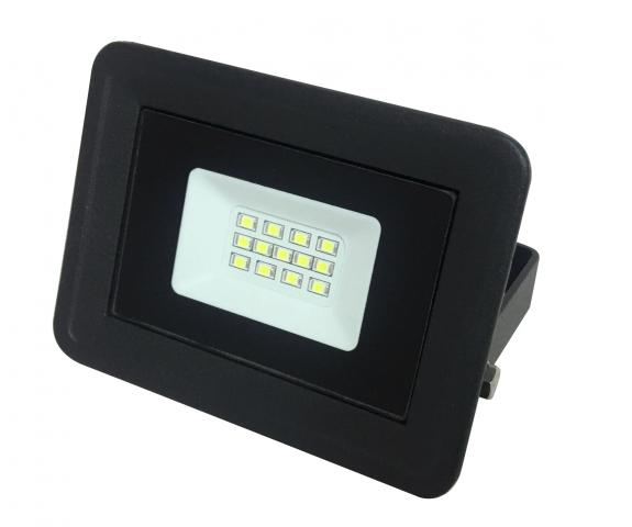 LED прожектор 10W 6000K P65 черен