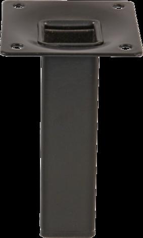 Метален крак 25x25x100мм черен