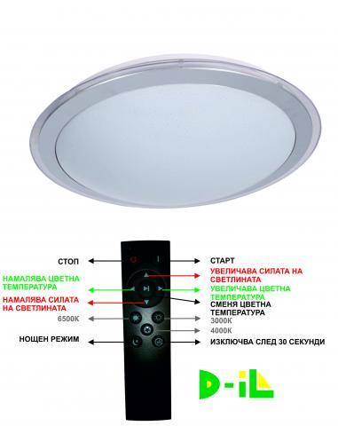 LED плафон GRAY RING 48W