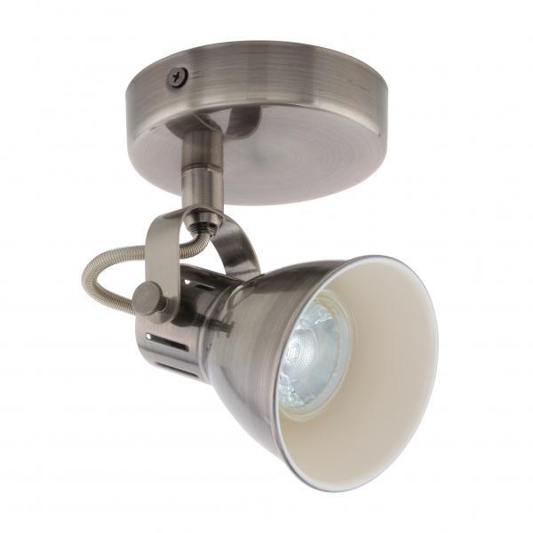 LED спот SERAS единица GU10 никел мат/крем