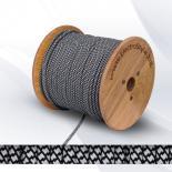 Кабел текстилен 2х0.75мм2 черно-бял