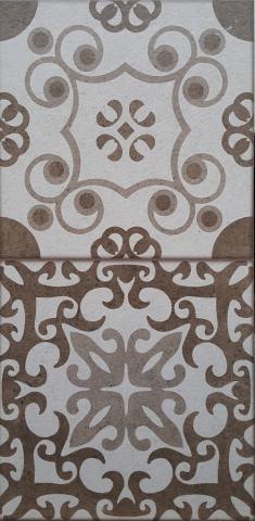 Декоративна плочка за баня Klio Brown 25x50 см