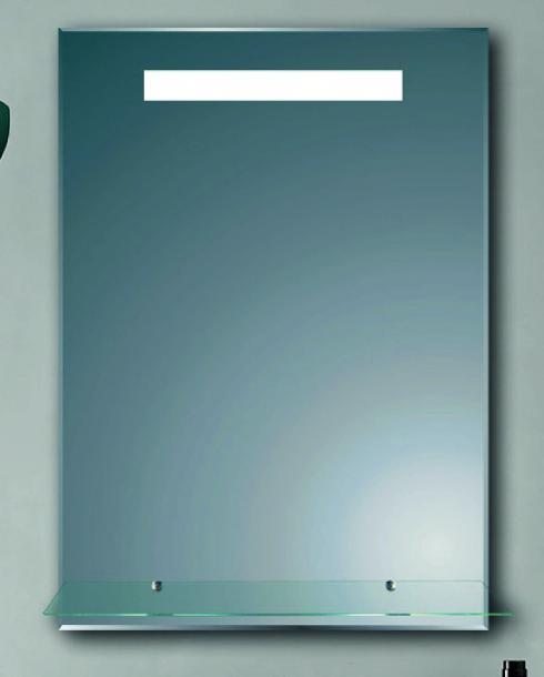 LED огледало с лавица 50х70