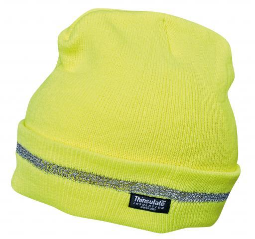 Сигнална плетена шапка жълта TURIA