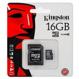Карта  памет  microSDHC 16GB Kingston