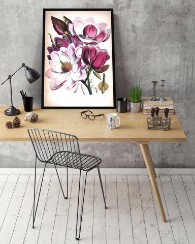 Картина с дървена рамка Premium ''Цветя'' 2
