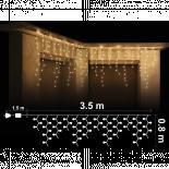 Светеща Завеса 300 топло бели 5мм RICE /оризови/ лампички.