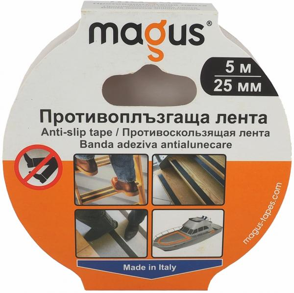Противоплъзгаща лента МАГУС 5м/25мм, бяла