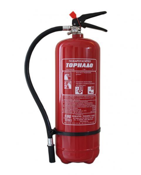 Пожарогасител прахов 6кг