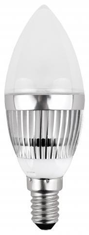 LED крушка 3W E14 B35 мат 3300K