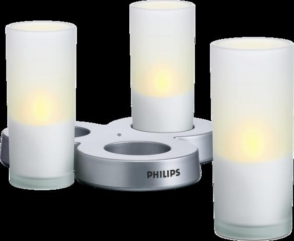 Комплект свещи - 3ка IMAGEO-бял