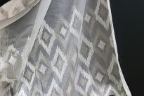 Бродиран плат за перде SHARP, ширина 280 cm, сив