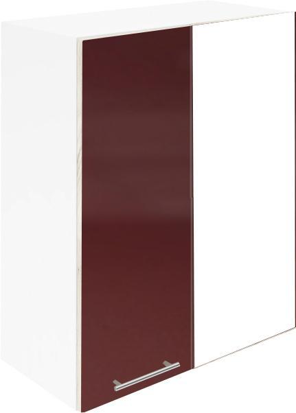 Крафт G12 горен с една врата и мъртво(300) 50см, бордо гланц