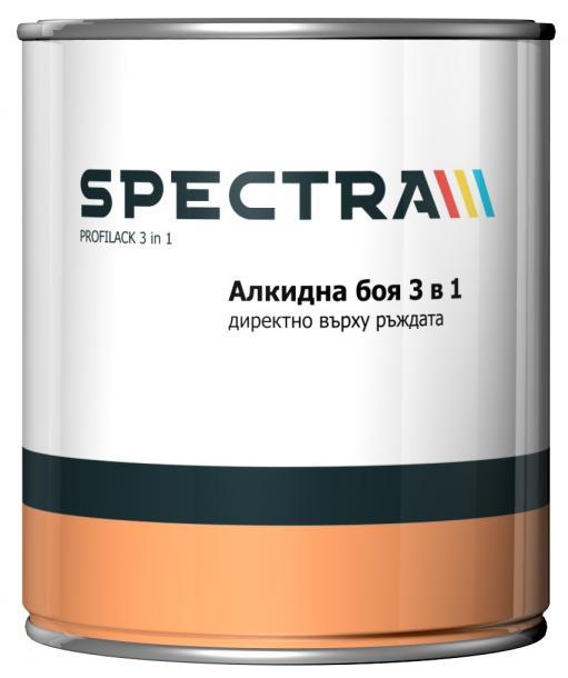 Алкидна боя за метал Spectra Profilack черна 650 мл