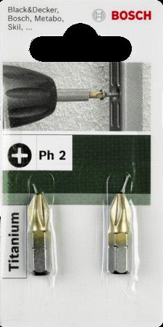 Бит Bosch Titanium PH2 25мм